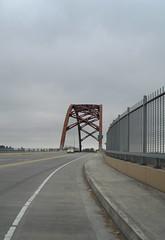 Approaching the Sauvie Island bridge