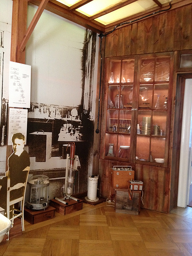 Marie Curie's lab equipment, Warsaw