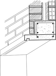 Detalle dintel prefabricado