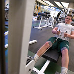 tour-0020 -- The Fitness Center within the Shirk Center features a weight/exercise room and racquetball courts.