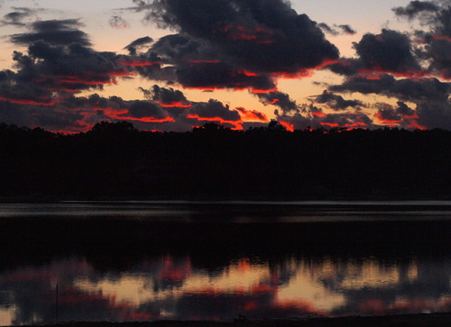 pink sunset fall water clouds mi dark evening dusk smooth calm westlake lining september2012