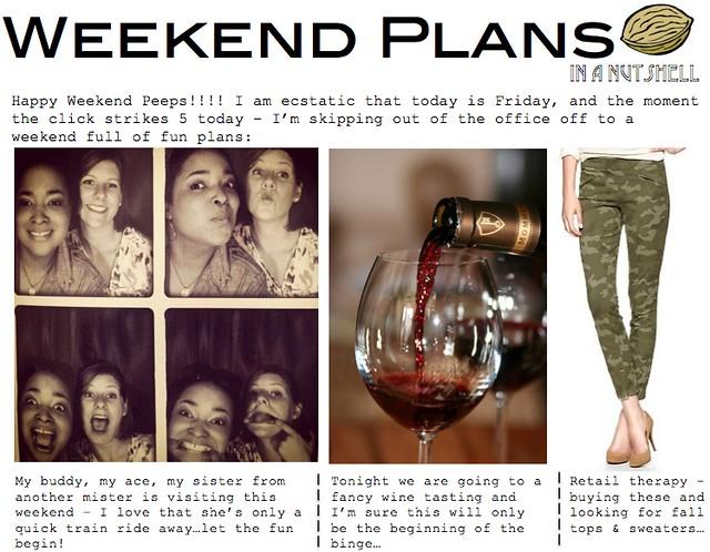 weekend plans 9.28
