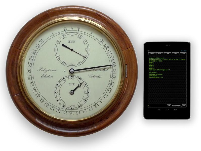 "12"" Electromechanical Calendar Clock"