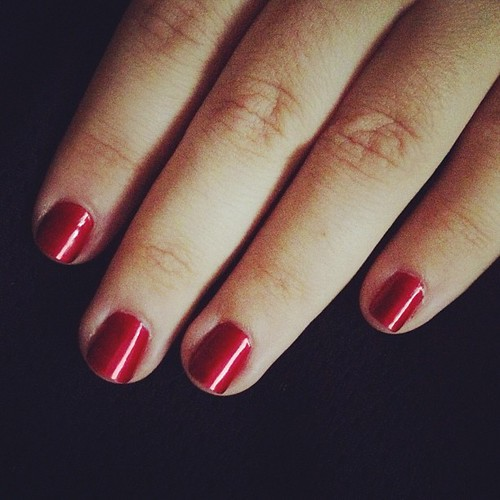 OPI Danke-shiny Red. Seriously in love with this #nailpolish