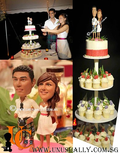 Personalized 3D Lovely Wedding Cake Topper Figurines  - © www.unusually.com.sg