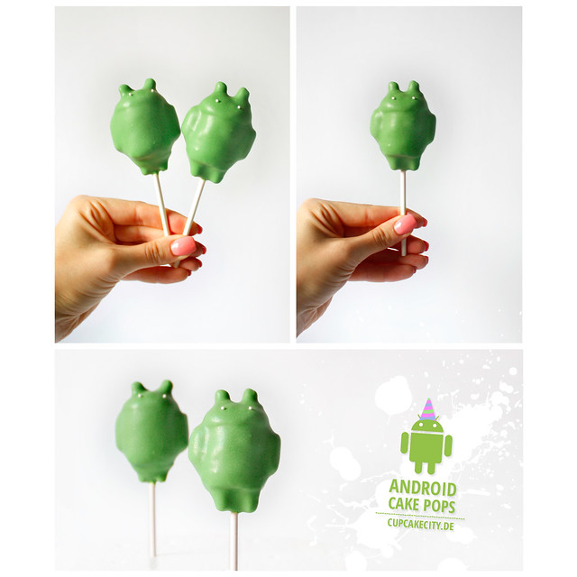 Google Android Cake Pops