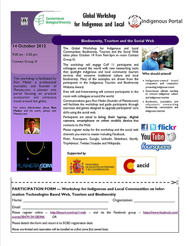 Oct 14 - Global Workshop for Indigenous and Local Communities