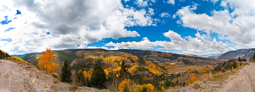 blue trees sky panorama orange white green fall colors yellow forest river nikon colorado bright foliage 180 changing national aspen 18200 vr minturn aspentree coloradorockies 18200mm d90 whiterivernationalforest