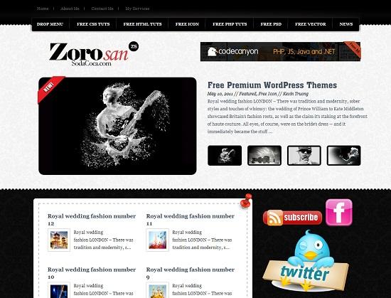 Themes Zoro San - Themes miễn phí tuyệt đẹp dành cho blog cá nhân