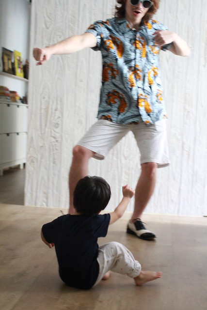 Baby & Papa Channeling Gangnam Style