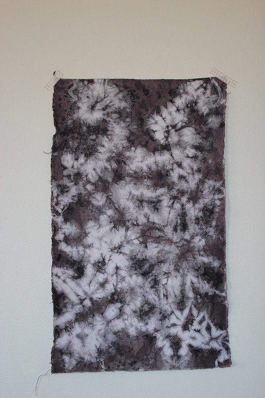 tie-dyed linen panel