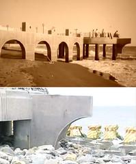 旗津原來有高雄最長、最直的沙灘,自從政府多事建了海岸公園、延伸出觀海平台的底柱出現裂痕後,政府再花了鉅額以礫石和消波塊維護,變得很醜。圖片翻拍自公視。