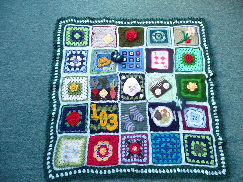 Thanks to everyone who contributed Squares for this Blanket. They are amazing!