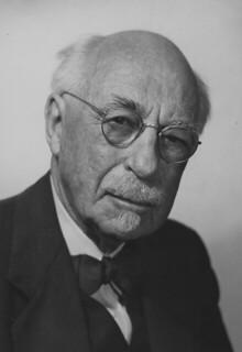 James A. Blaisdell, Pomona's third president, near the end of his life
