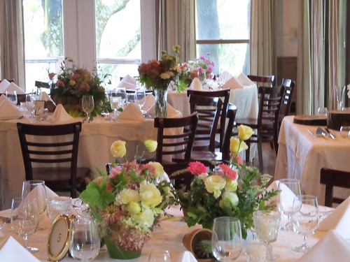 crestwood table arrangements by Shady Grove Gardens