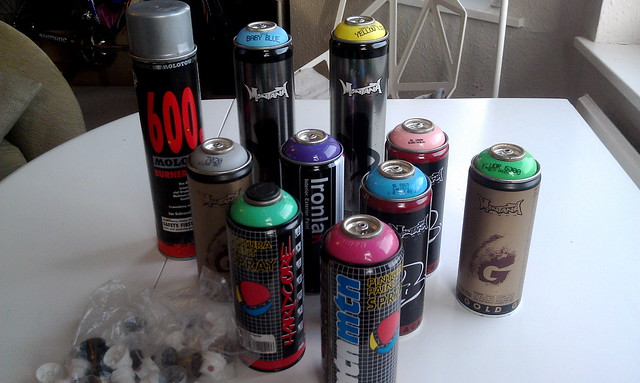 For Sale Ot Spray Paint Cans Montana Mtn Molotow Hardcore Ironlak Caps Lfgss