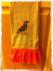 Fall Crow Towel