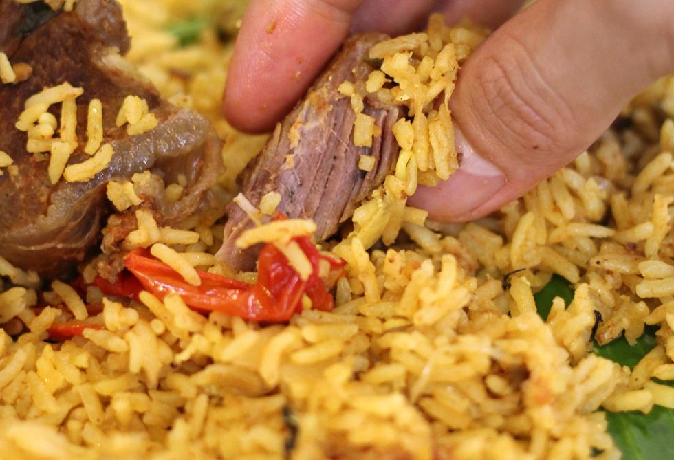 Malaysian style mutton biryani