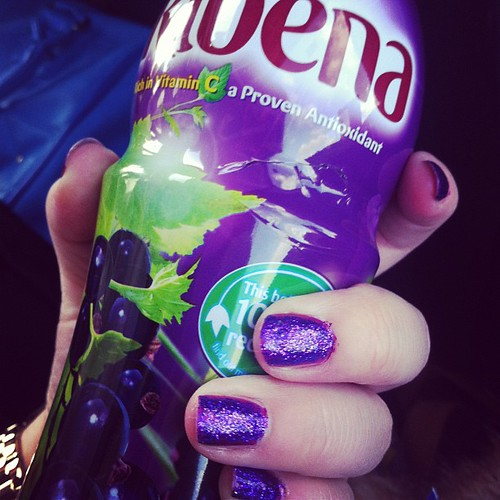 Nails match my drink