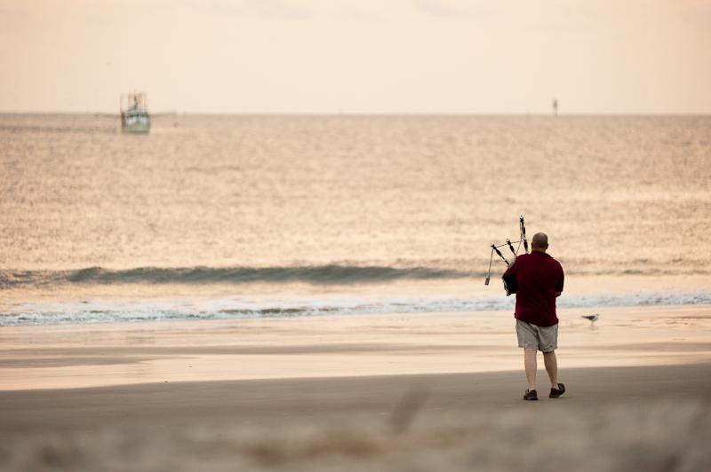Beach Bagpiper