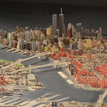 Queens Museum of Art | The Panorama of the City of New York | lower Manhattan, including the twin towers of the World Trade Center, the Manhattan & Brooklyn Bridges, etc