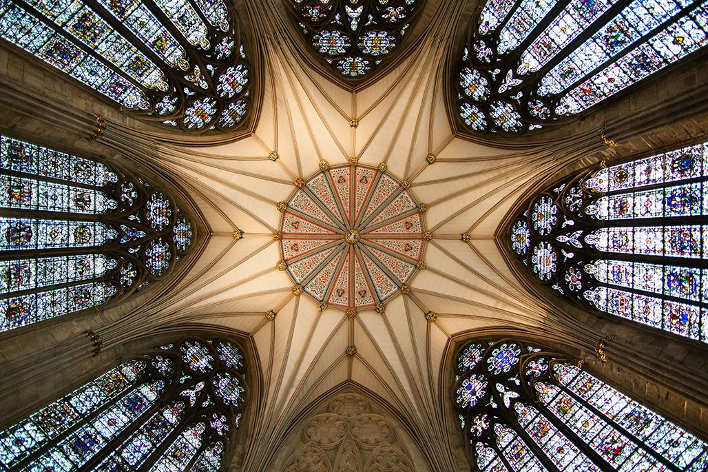 Techo de la Sala Capitular en la Catedral de York