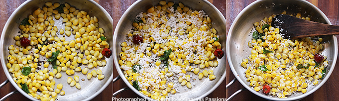 How to make sweet corn sundal recipe - Step1