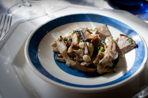 Sauteed wild mushrooms with herbs