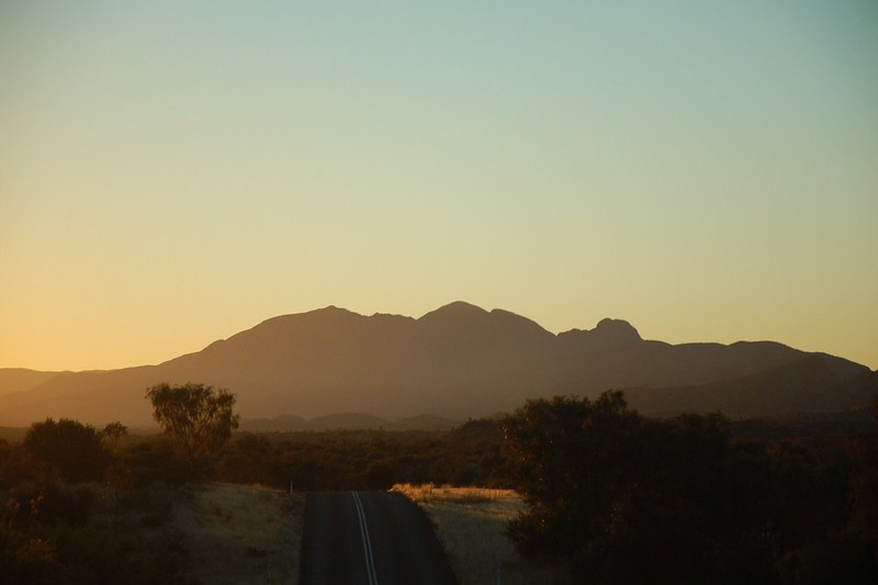 West MacDonnell Ranges at sunset