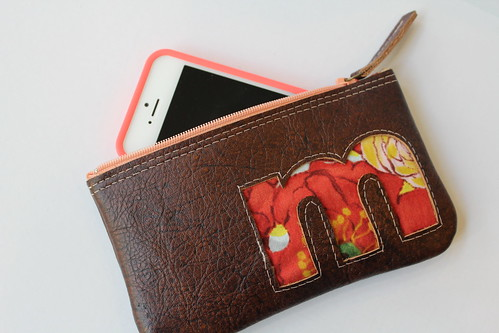 Monogrammed Phone Clutch/Case