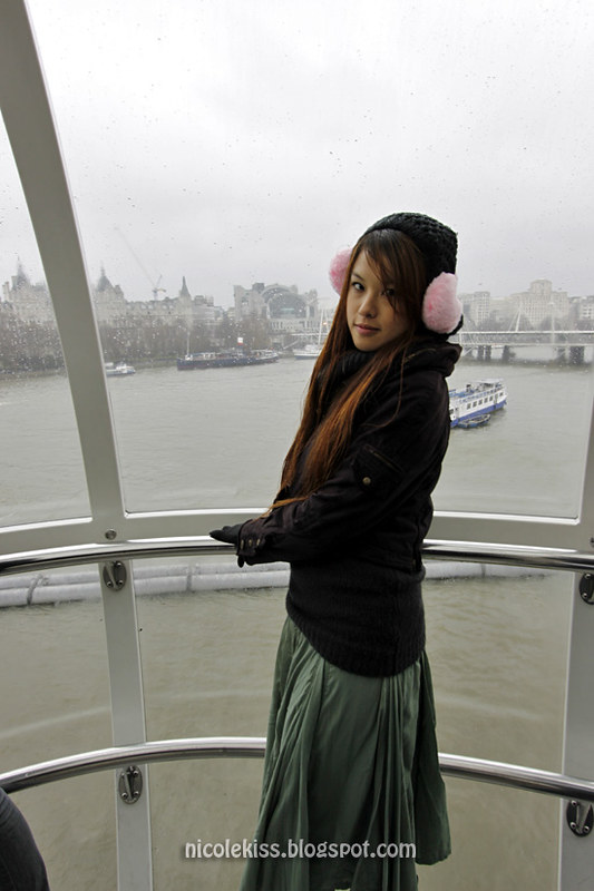 rainy london on london eye