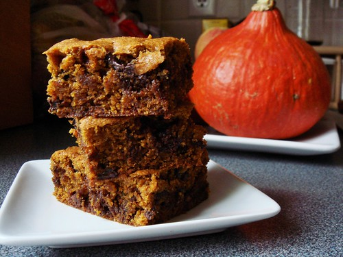 Whole Wheat Pumpkin Chocolate Chip Bars