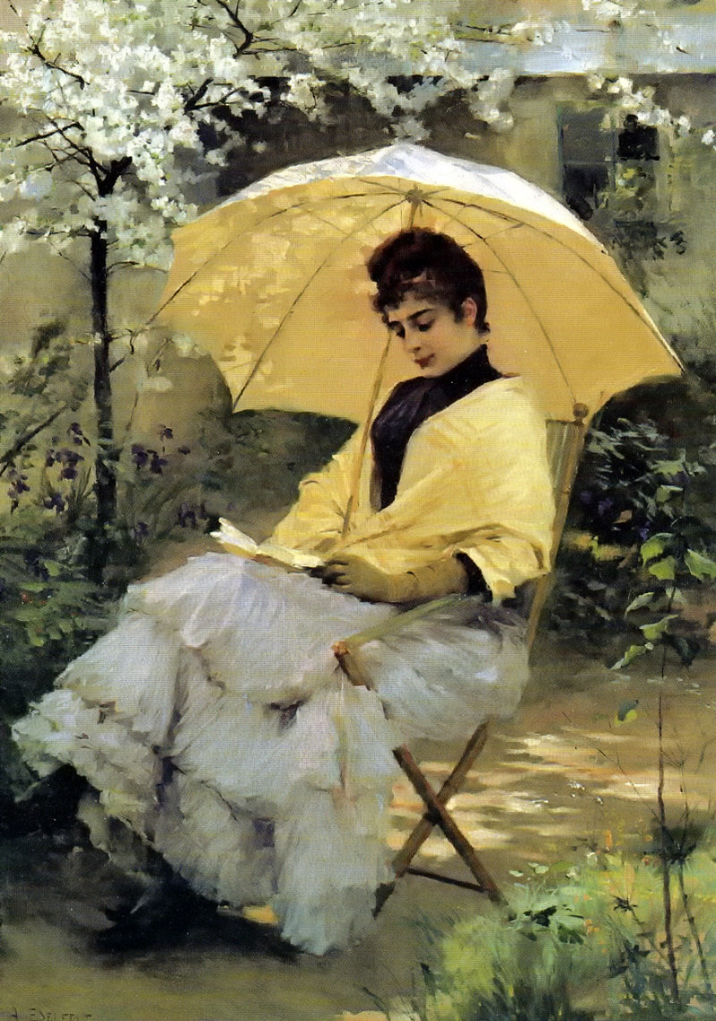 Woman and Parasol by Albert Edelfelt, 1886