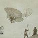 A hand-out from the Otto Lilienthal Museum in Germany, which shows Otto Lilienthal in flight in 1893