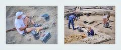 Man at Work Women at Work - Digging in front of a Church - Cemetery Mann bei der Arbeit, Frauen bei der Arbeit: Ausgrabungen auf einem Kirchplatz - Friedhof - öffentlich mitten in einer Stadt 9. Juni 2016