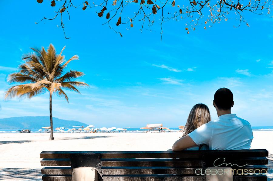 Lais e Diego E-session na praia de Santos-6