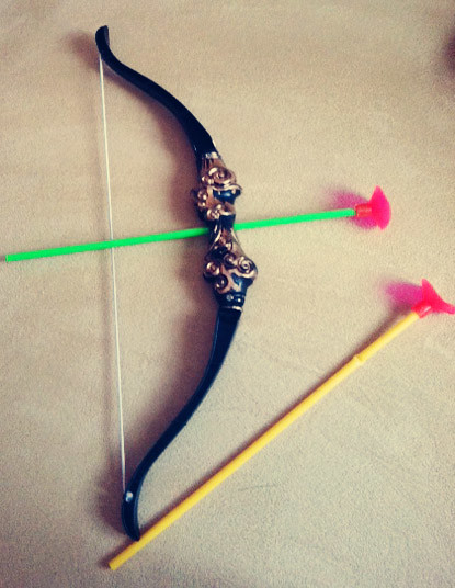 bow and suction arrows