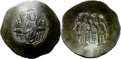 Manuel I Comnenus - Billon-Aspron trachy - Constantinople - Christ - Virgin - Emperor Sear 1966