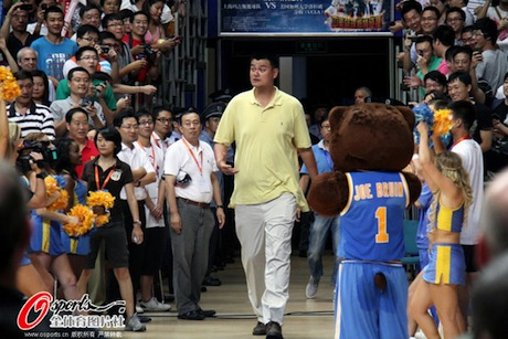 August 28th, 2012 - Yao Ming enters the UCLA-Shanghai Sharks game
