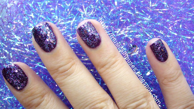 face shop nail polish pp409 barry m vivid purple 3