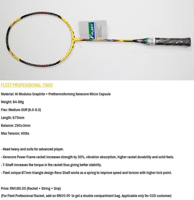 WTS Finnex + Fleet Badminton Racket