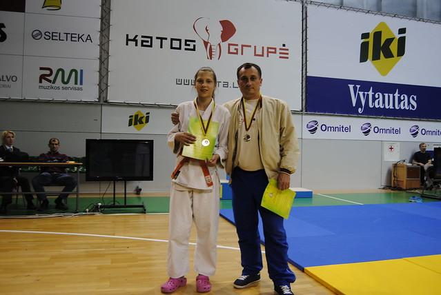 Akvilė Valauskaitė su treneriu