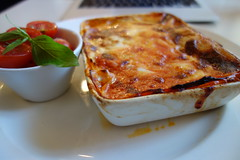 pizza(0.0), produce(0.0), meal(1.0), vegetable(1.0), moussaka(1.0), food(1.0), dish(1.0), cuisine(1.0), lasagne(1.0),
