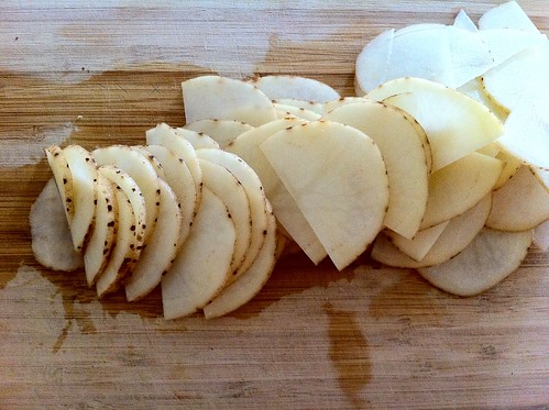 Very Thinly Sliced 1/2 Potato