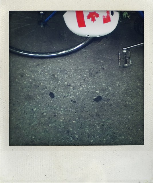 bike and helmet (a walk in Montreal)