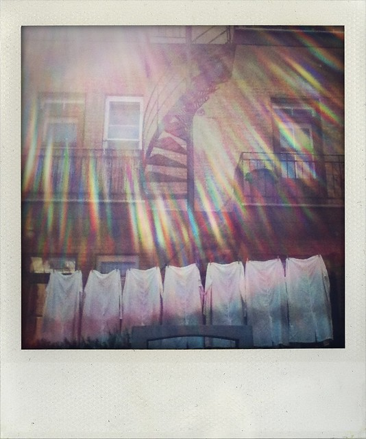 sun burst on white shirts (a walk in Montreal)
