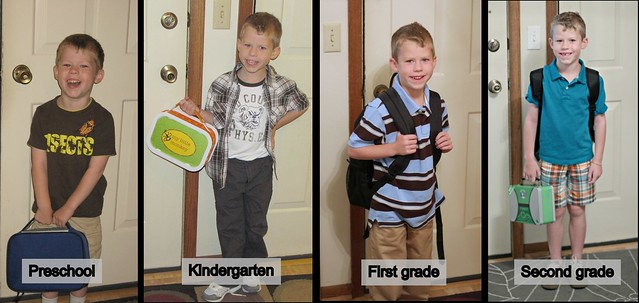 First days of school - Preschool to second grade