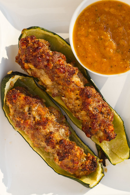 Sausage Stuffed Zucchini Boats | Blog Post: What's on the Gr ...