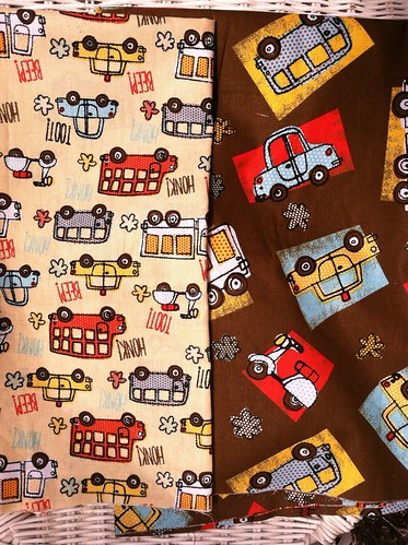 Main fabrics for my new nephew's quilt