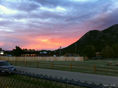 Sunset from the mini-golf course. Estes Park, CO